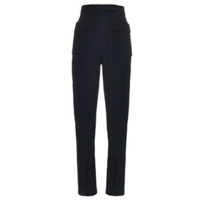 Patch Pocket High-Rise Trousers