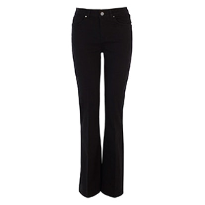 Black Denim Kick Flare Jean