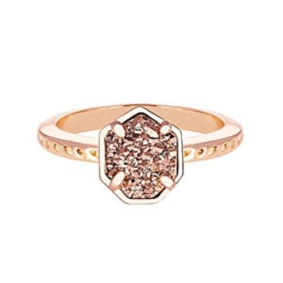 Calvin Ring in Rose Gold Drusy