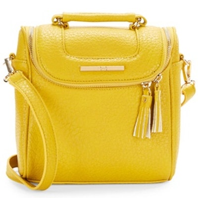 Zip-Around Faux Leather Crossbody