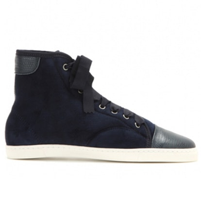 Suede High-Top Sneakers
