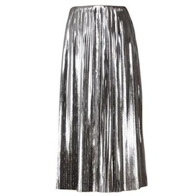Silk Lamé & Cady Skirt
