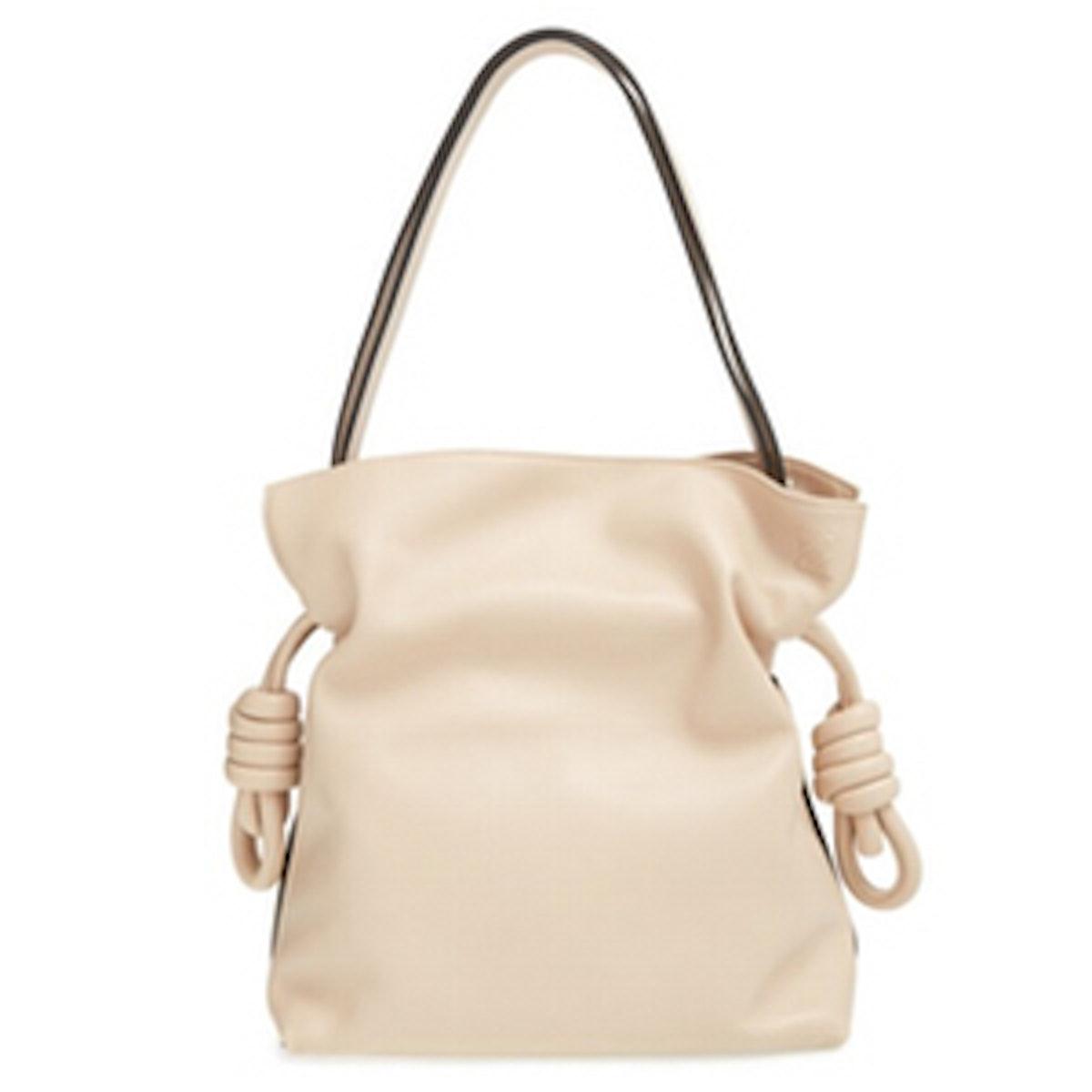 Small Flamenco Knot Leather Bag