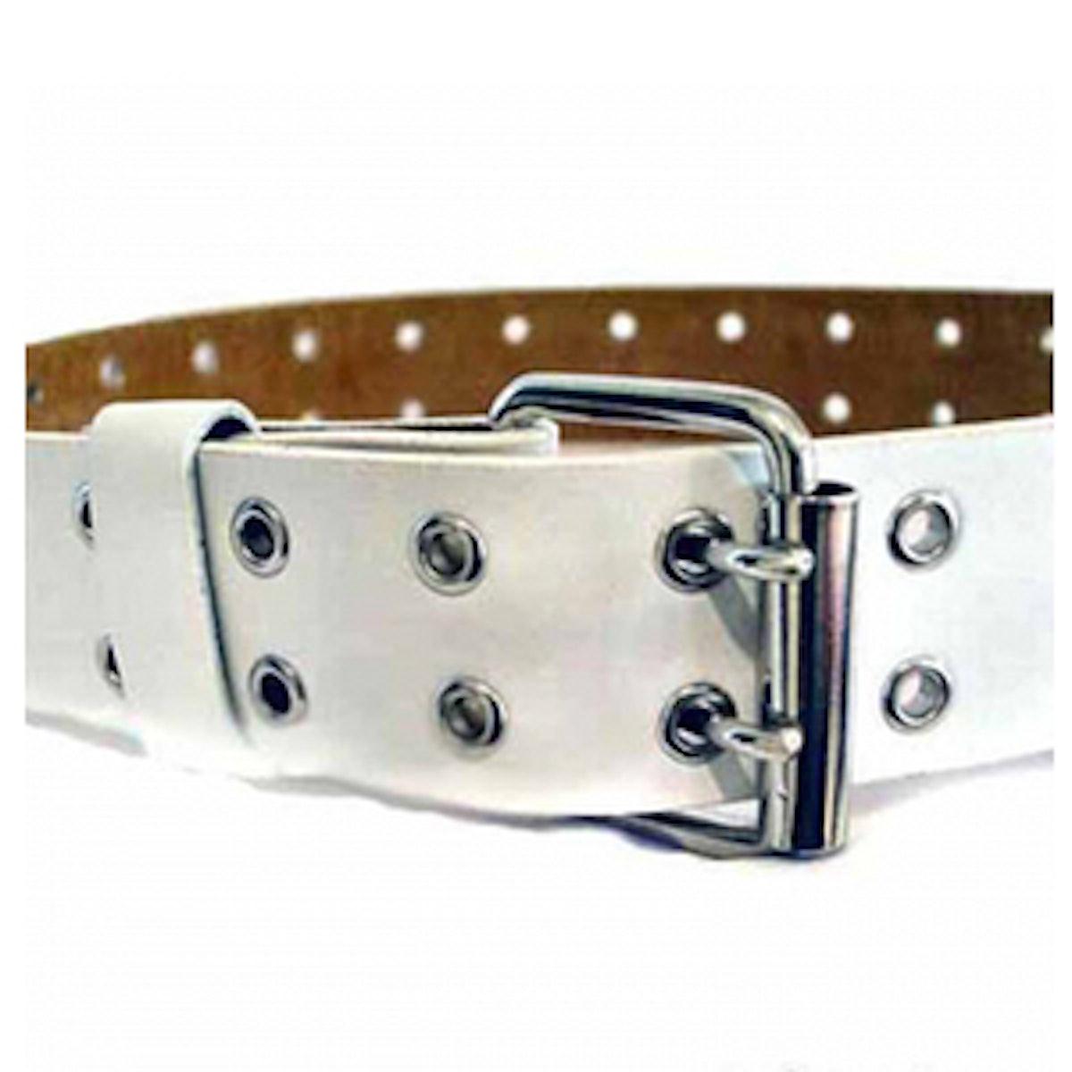 Double Grommet Leather Belt
