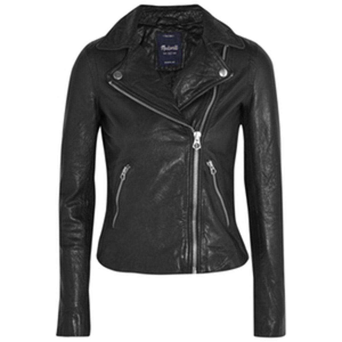 Washed Leather Motorcycle Jacket