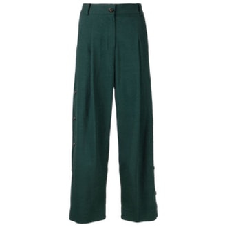 Cropped Button Trousers