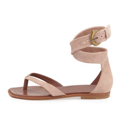 Zolia Ankle-Wrap Thong Sandal