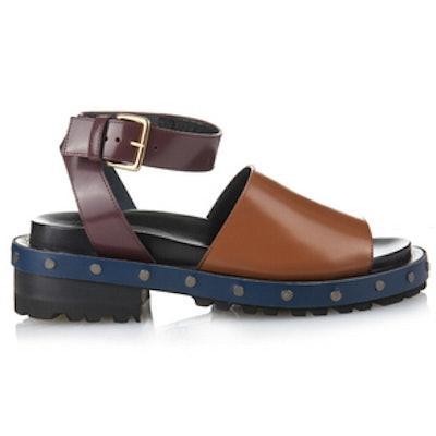 Fousbert Tri-Colour Leather Sandals
