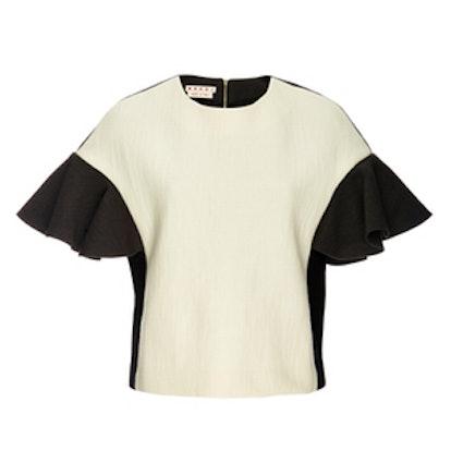 Ruffled Wool T-Shirt