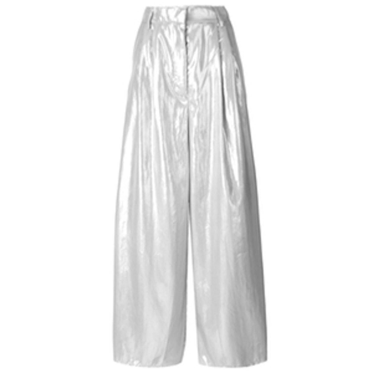 Metallic Wide Leg Trousers