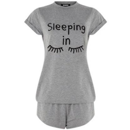 Sleeping In Pajama Set