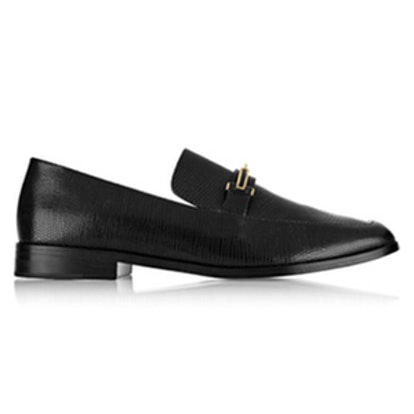 Melanie Lizard-Effect Leather Loafers