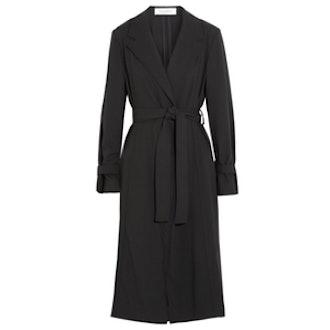 Wool Gabardine Trench Coat