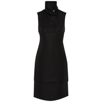 Oris Twill Turtleneck Dress