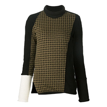 Asymmetric Checked Sweater
