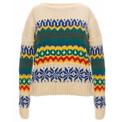 Ivory Fair Isle Sweater