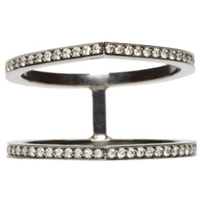 Black Double Diamond Ring