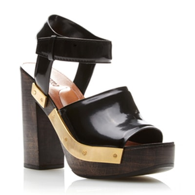 Chunky Wooden Heeled Sandals