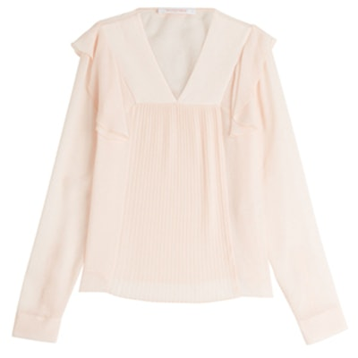 Ruffle And Pleated Blouse