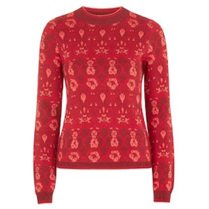 Tonal Rose Sweater