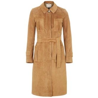 Premium Suede Trench Coat