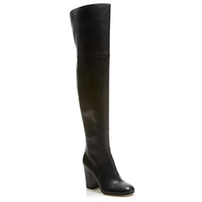 Beline Over The Knee Mid Heel Boots