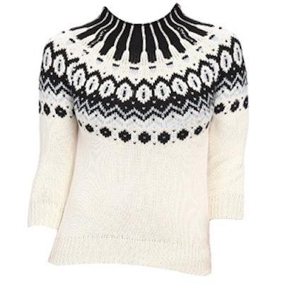Crop Fairisle Sweater