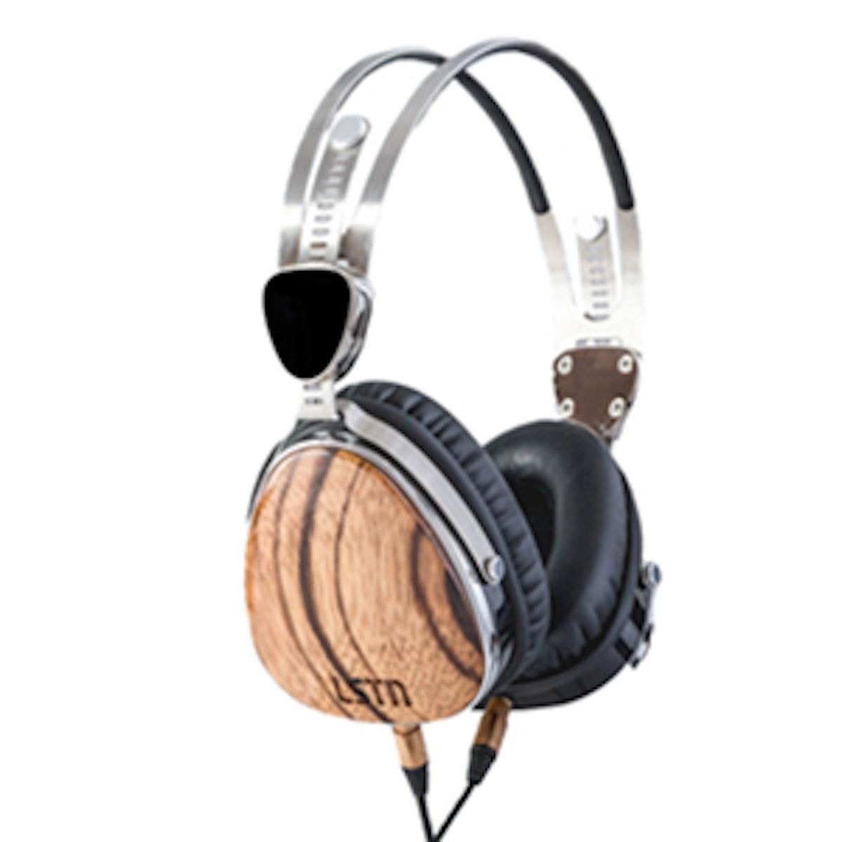 Zebra Wood Headphones
