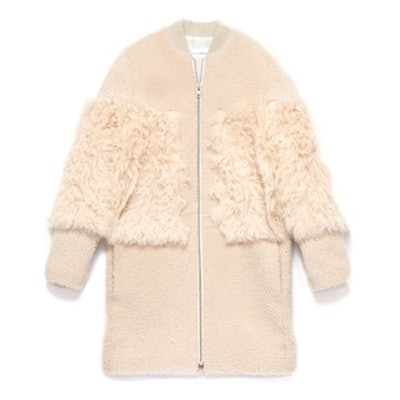 Shearling Blocked Coat