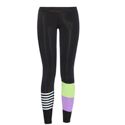 Striped and Color-Block Performance Leggings