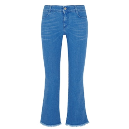 Cropped Low-Rise Bootcut Jeans
