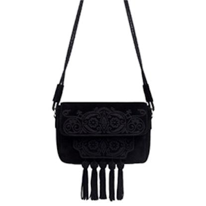Tassel Embroidered Messenger Bag