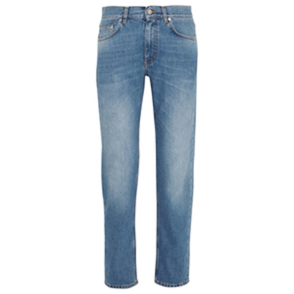 Boy Faded Mid-Rise Boyfriend Jeans