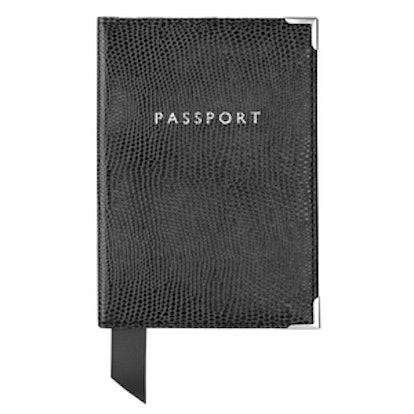 Lizard Print Passport Cover