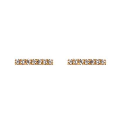 Midi Diamond Bar Earring