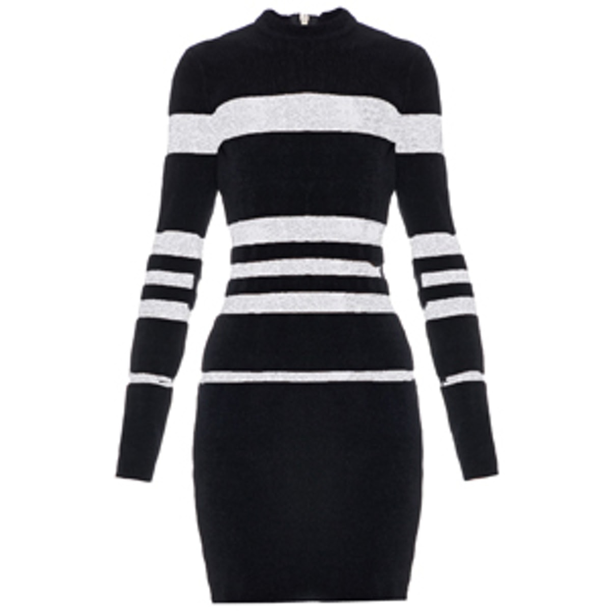 Long-Sleeved Striped Mini Dress