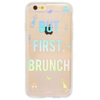 But First, Brunch Iridescent iPhone Case