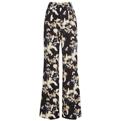 Printed Retro Flare Pants