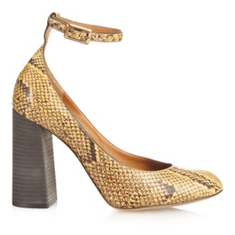 Python Ankle-Strap Pumps