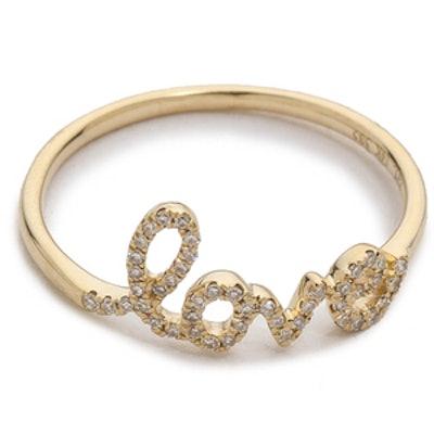 Diamond Love Ring