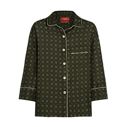 Febe Printed Silk Twill Shirt