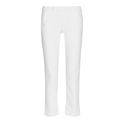 Le Cropped Stretch Cotton Blend Twill Pants