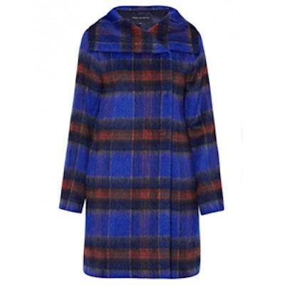 Kazan Check High Neck Coat