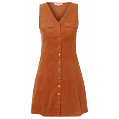 Rust Corduroy A-line Dress