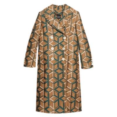Losanga Wool Jacquard Coat