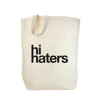 Hi Haters Canvas Tote