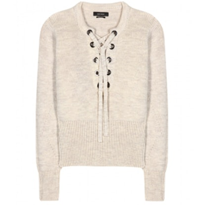 Charley Lace Up Sweater