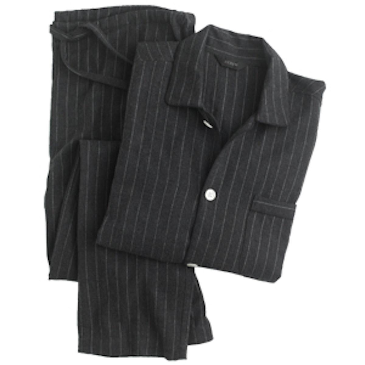 Flannel Striped Pajama Set