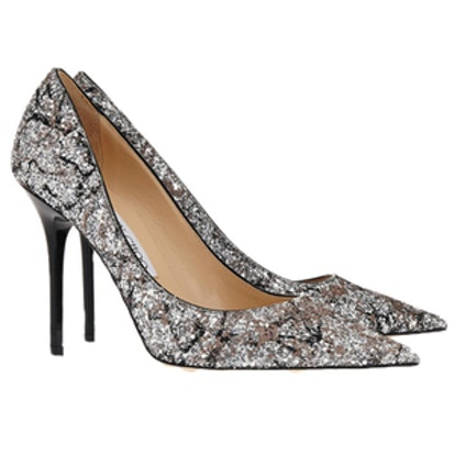 Abel Glittered Leather Pumps