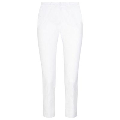 Cropped Stretch Cotton-Blend Skinny Pants